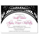 Paris Theme Custom Invitations