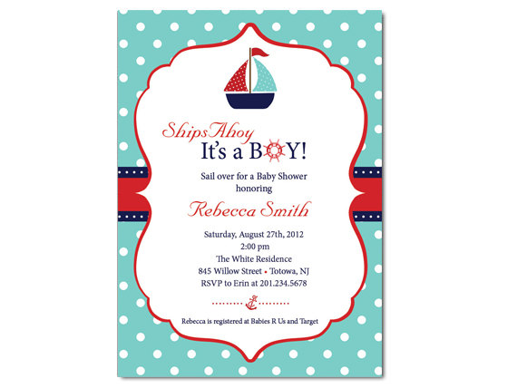Sailboat baby shower invitation on luulla sailboat baby shower invitation filmwisefo