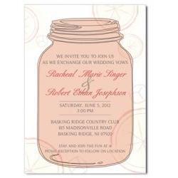 Mason Jar Custom Invitation